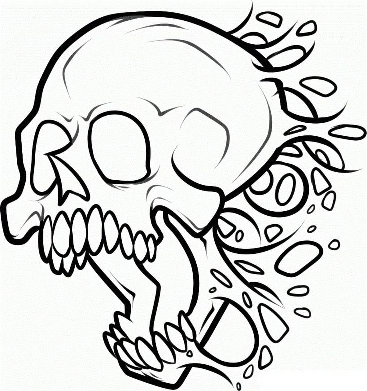 Картинки черепа легко нарисовать