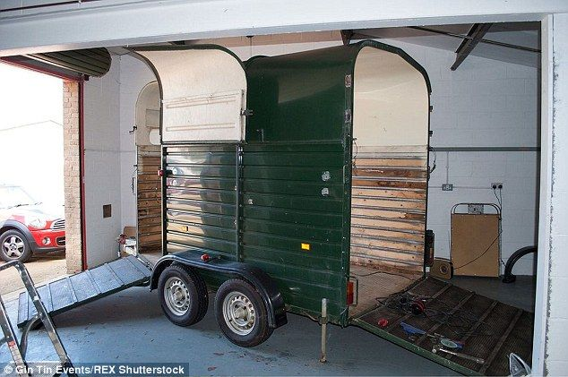 The green trailer was purchased in February this year by father and daughter team John and Anna Shanks