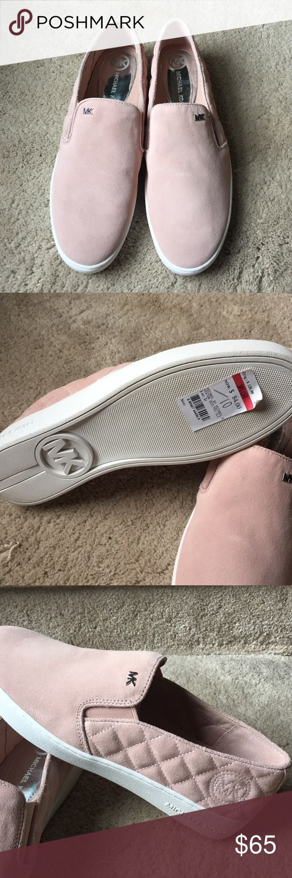 Authentic Michael Kors shoes NWT! Michael Kors Keaton quilted suede skate shoe. Soft pink! Super cute! Michael Kors Shoes Sneakers