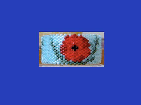 PoppiesTea Light Cover/Napkin Ring Bead by PhoenixWolfDesigns