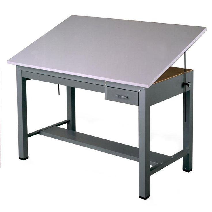 Lovely Mayline Economy Ranger III Drafting Table Dimensions Specifications Drawing  Surface: Gray Melamine Fixed Height: