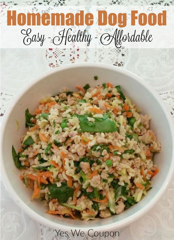 Homemade dog food is so easy to make!  This easy recipe is a gluten-free dog food that is budget-friendly and easy to make!