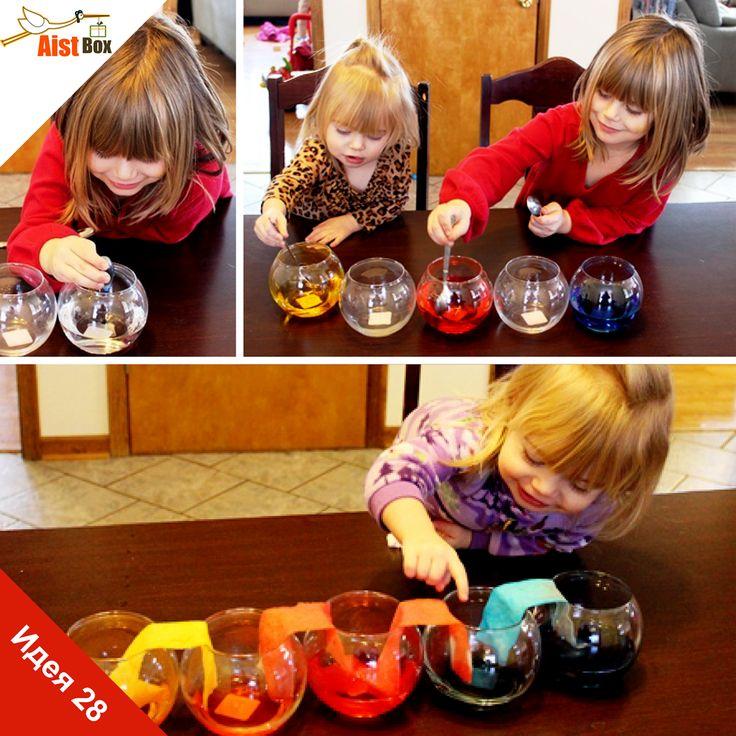 Проведите с малышами интересный эксперимент с жидкостью и бумагой, но запаситесь терпением)