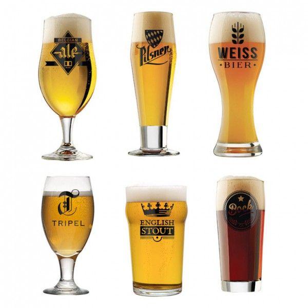 Découvrez ce set verres à bière qui vous offrira pas moins de 6 verres différents dans lesquels savourer votre boisson préférée, entre amis ! #beer