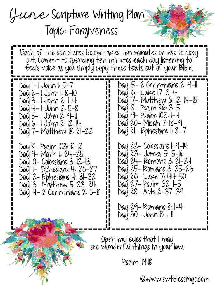 Sweet Blessings: June Scripture Writing Plan 2016