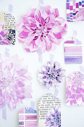 lovely watercolor flowers: lovely watercolor flowers. Love the negative space between petals.