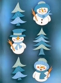 3 blue snowmen part 1 (4 parts)