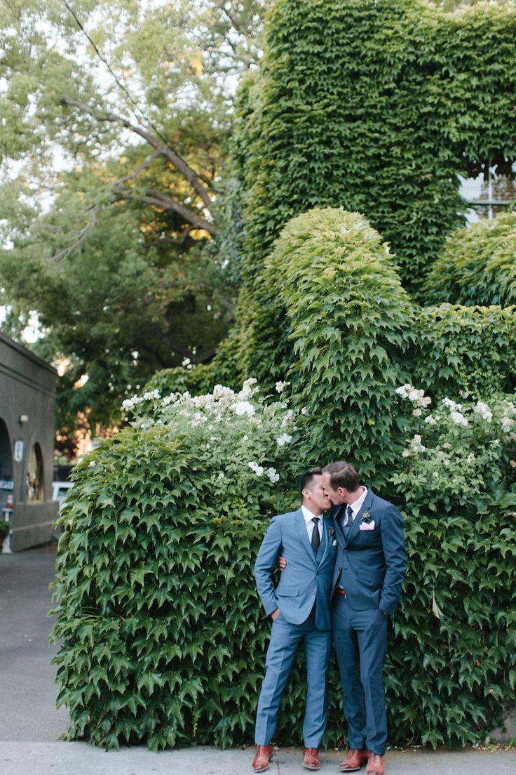 Photography: Abi Q Photography - abiqphotography.com Read More on SMP: http://www.stylemepretty.com/california-weddings/2015/02/17/modern-masculine-summer-wedding-at-barndiva/
