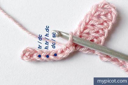 Manta para bebe tejida a crochet con puntos de corazon-2