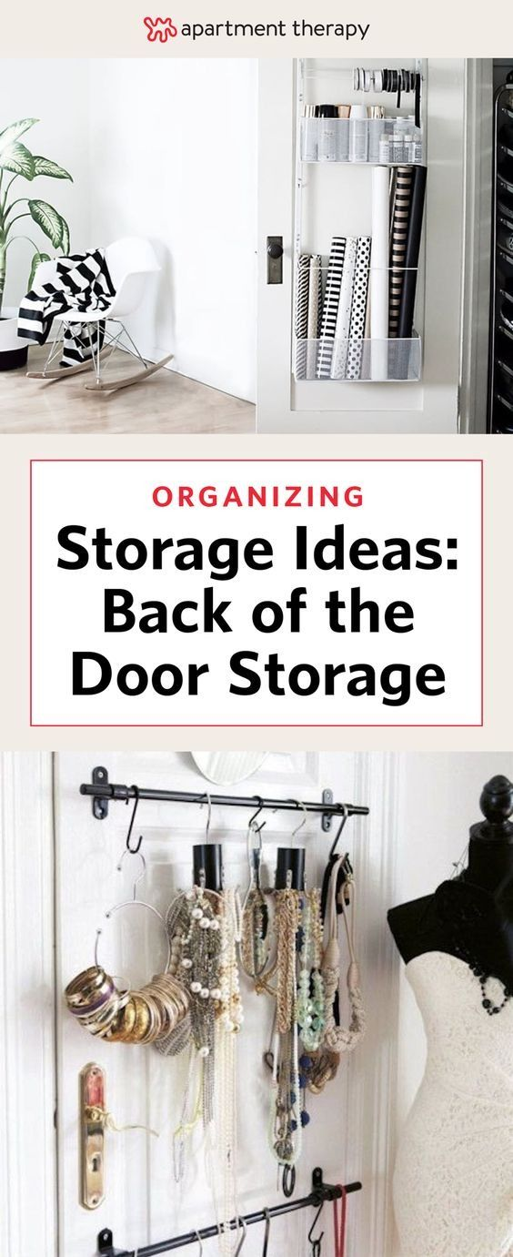 If you live in a small apartment or house, you've likely complained once (or twice) about the lack of closet space. But there's a big, blank three-by-seven-foot space you're likely overlooking: the back of the door. By adding hooks, installing pegboards and securing baskets, you can craft a customized organizing system in a spot you've barely even noticed before.