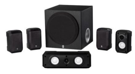 Home theater system with wireless speakers