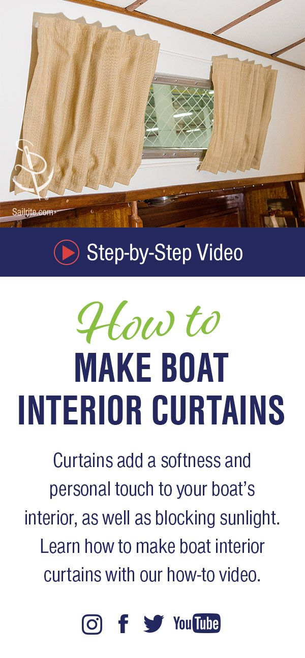How to Make Boat Interior Curtains Video in 2019 | Boat