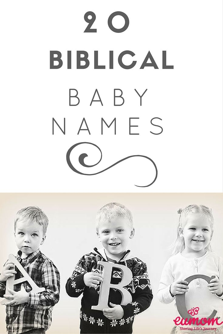 Whether religious or not, biblical names have always been a popular choice for parents. Here is a list of names that could give you some inspiration that you may or may not know come from The Bible.