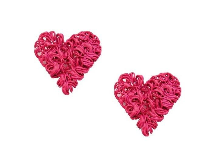 Valentine Special Pink Heart Studs Red