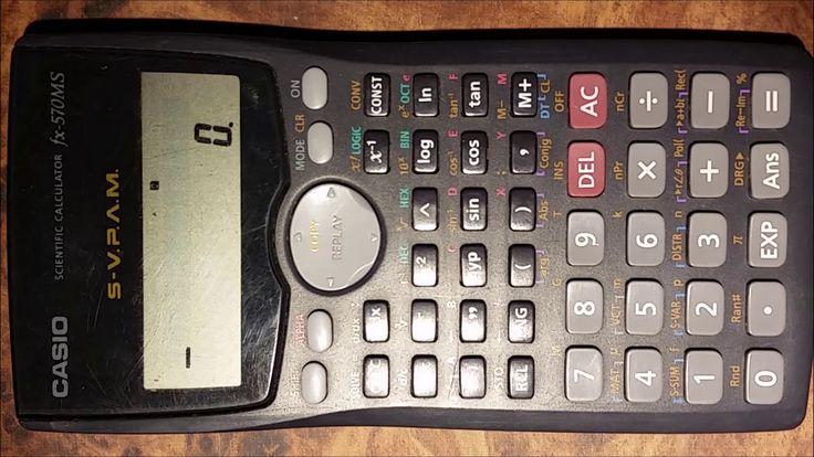 Conversión de unidades de mmHg a Pa. Calculadora científica Casio fx-570MS