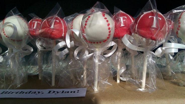 Texas Rangers Baseball and Cap Cake Pops (per dozen). $25.00, i wanna order these