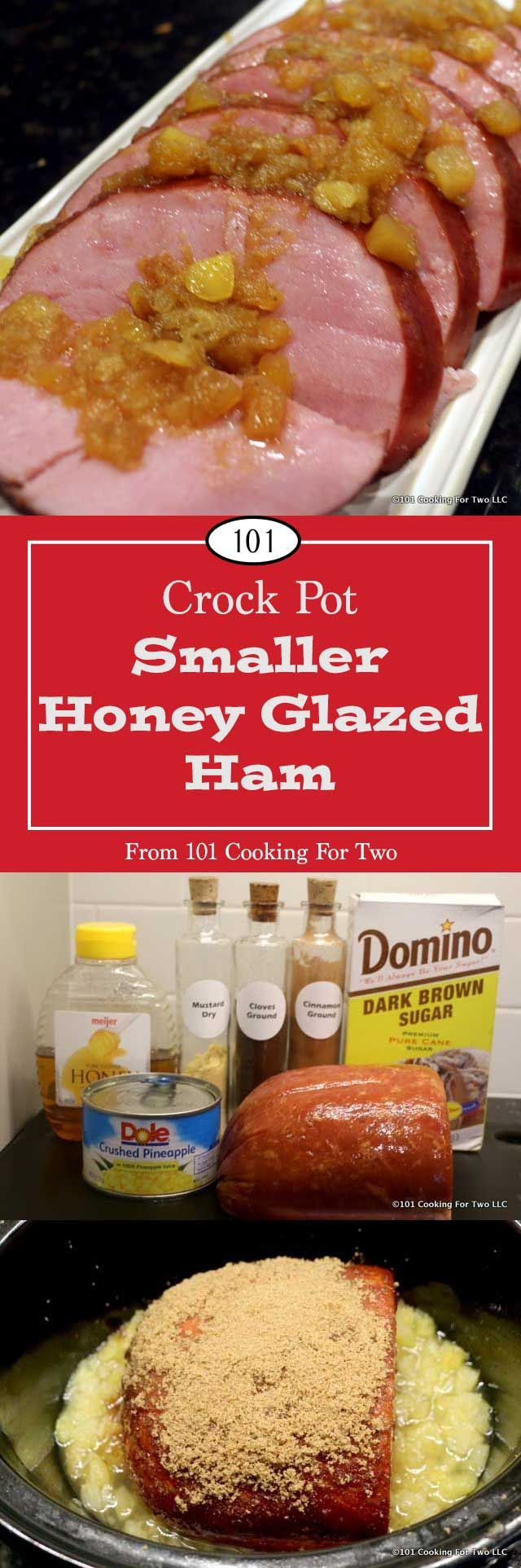 Crock Pot Honey Glazed Ham from 101 Cooking for Two