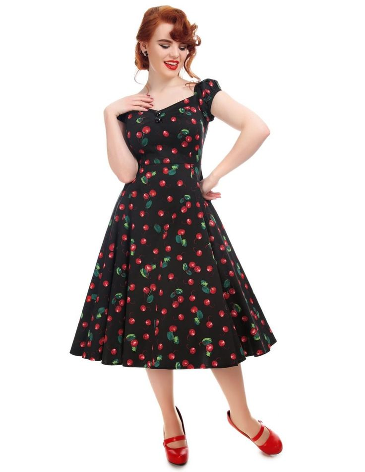 Robe Rockabilly Retro Pin-Up 50's Dolores Doll Cerises Cherry