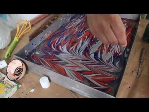 Painting On Water: Turkish Marbling AKA Ebru Class In Istanbul 2 http://m.youtube.com/watch?v=EvsAwIlkZwc