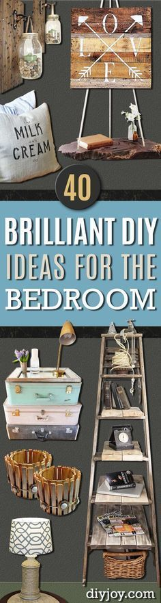 Awesome 40 Brilliant DIY Ideas For The Bedroom Design