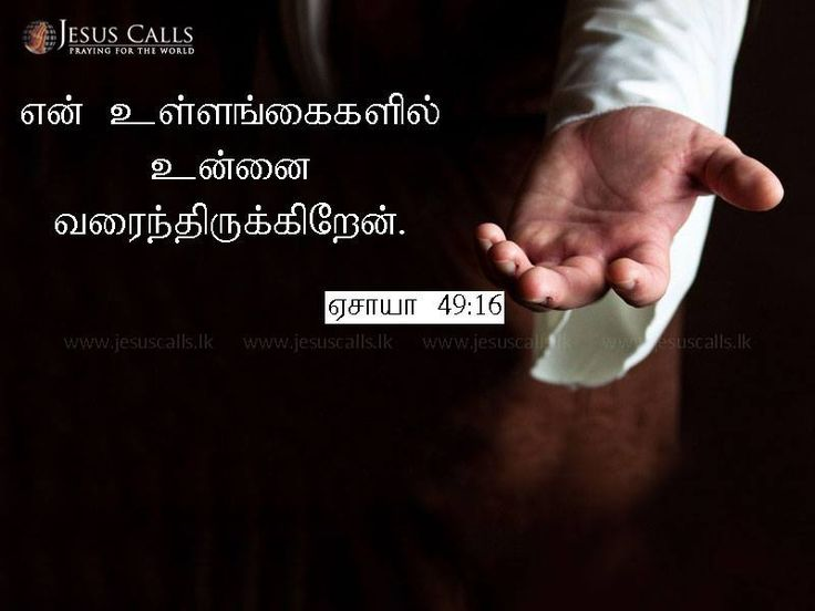 என் உள்ளங்கைகளில் உன்னை வரைந்திருக்கிறேன். ஏசாயா 49:16