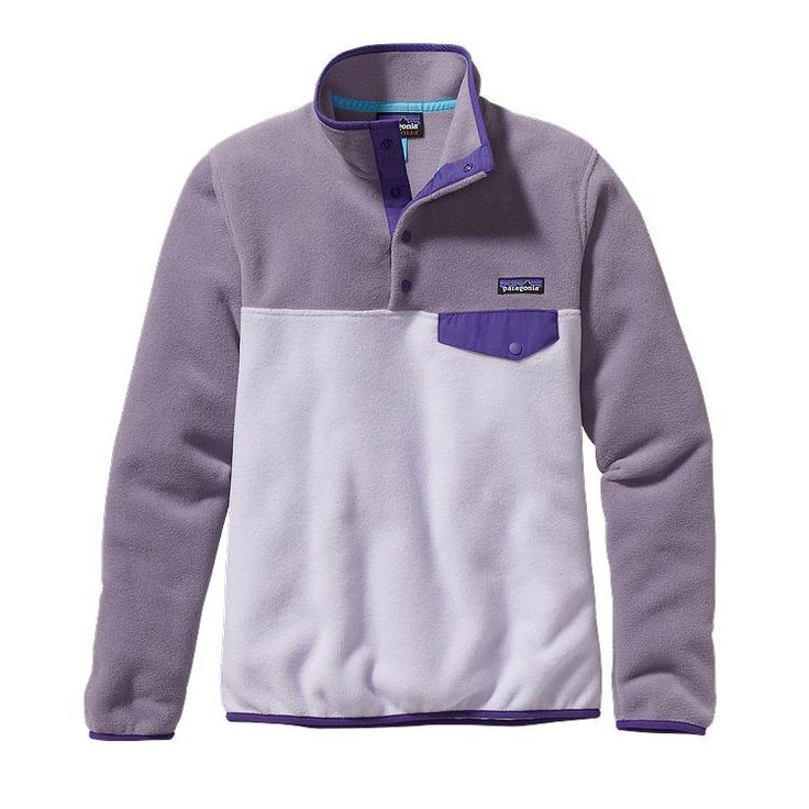 Patagonia Women\'s Lightweight Synchilla\u00AE Snap-T\u00AE Fleece Pullover - Tundra Purple TDRP