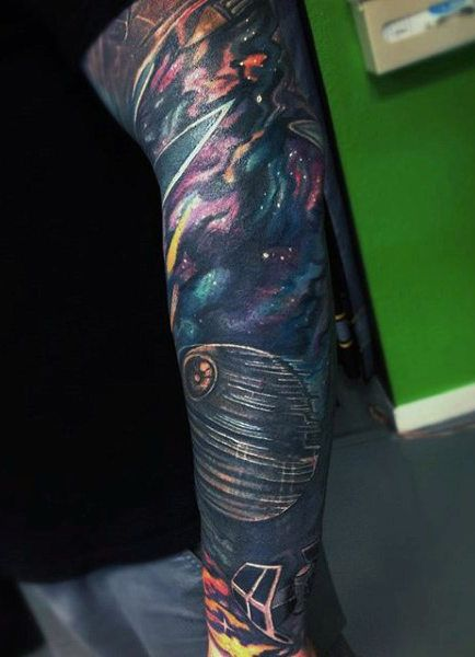 92f8501734e1b 70 Outer Space Tattoos For Men - Galaxy And Constellations | Татухи | Outer  space tattoos, Tattoos for guys, Outer space