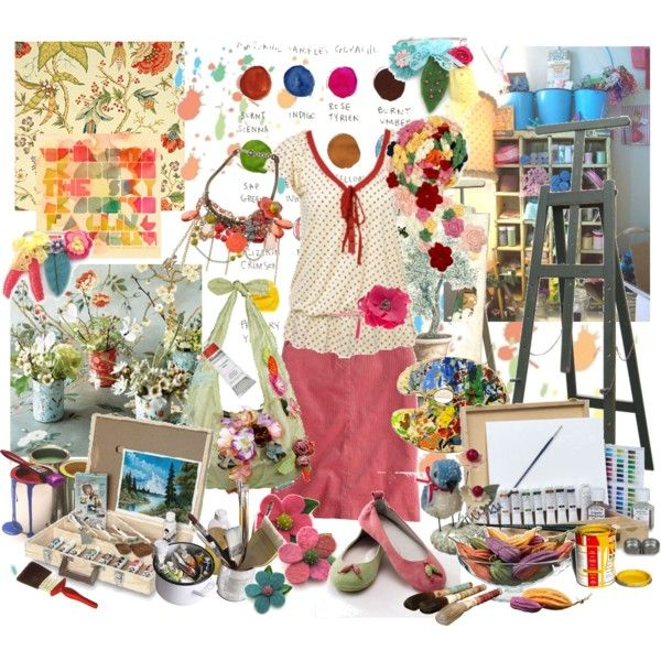 I feel so supercreative by chani on Polyvore featuring art