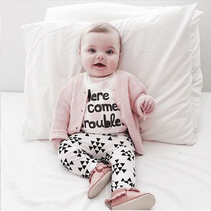 Cool Baby Girl Cotton Outfit (2 piece set)