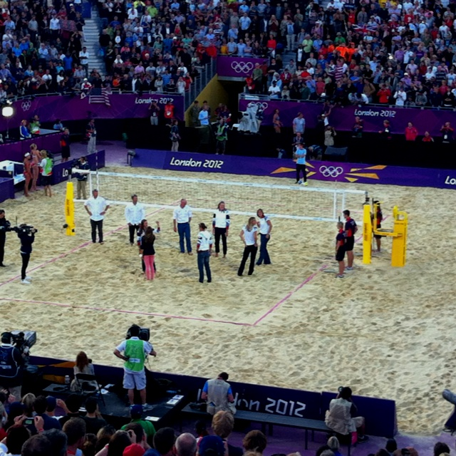 Team GB Ladies Olympic rowing Champions try their hand at BeachVolley Ball in Horse Guards Parade!!