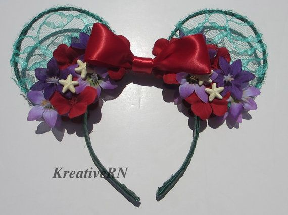 Hey, I found this really awesome Etsy listing at https://www.etsy.com/listing/191895931/little-mermaid-inspired-minnie-ears