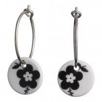 Andersen Finest Porcelain Hoop Earrings NATURE 399 081