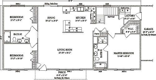 Jamestown IV by Wardcraft Homes Ranch Floorplan