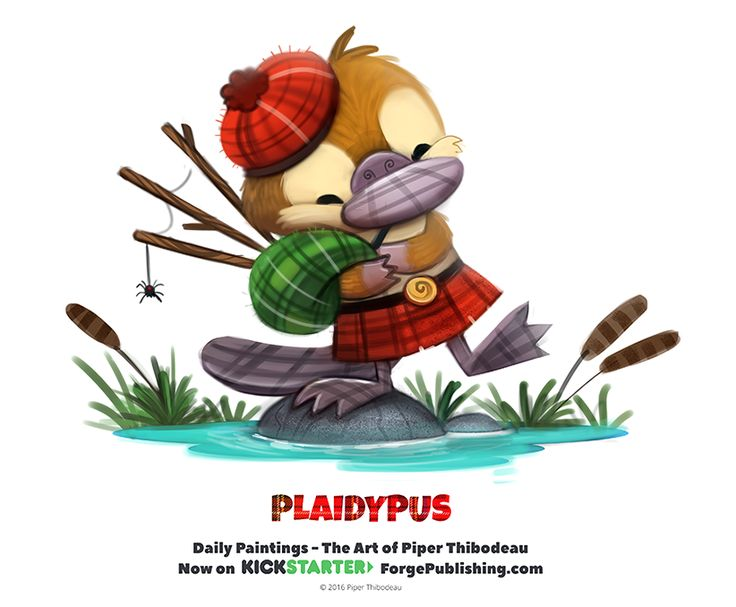 Daily 1338. Plaidypus by Cryptid-Creations.deviantart.com on @DeviantArt
