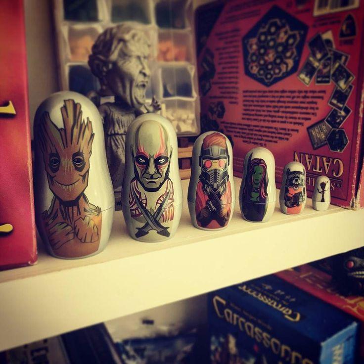 Get the crew together. #GuardiansOfTheGalaxy nesting dolls. #geek #geeklife #geeksquad