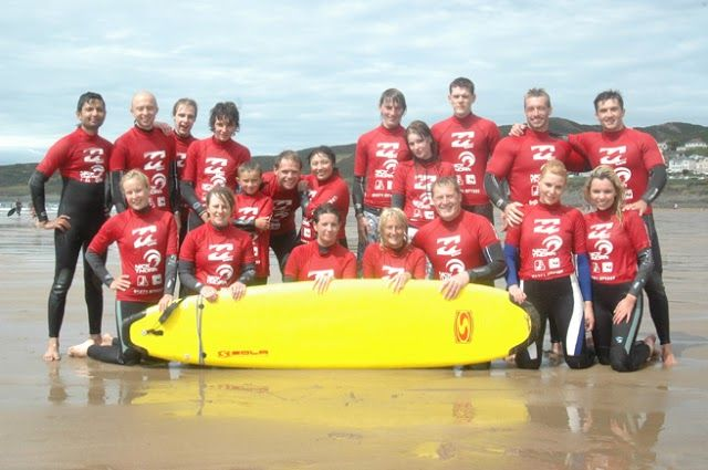 Great fun on Woolacombe beach, learning to surf! Woolacombe Sands Holiday Park  https://www.campsitechatter.com/campsites/pinboard/Woolacombe-Sands-Holiday-Park/5779562952439790689