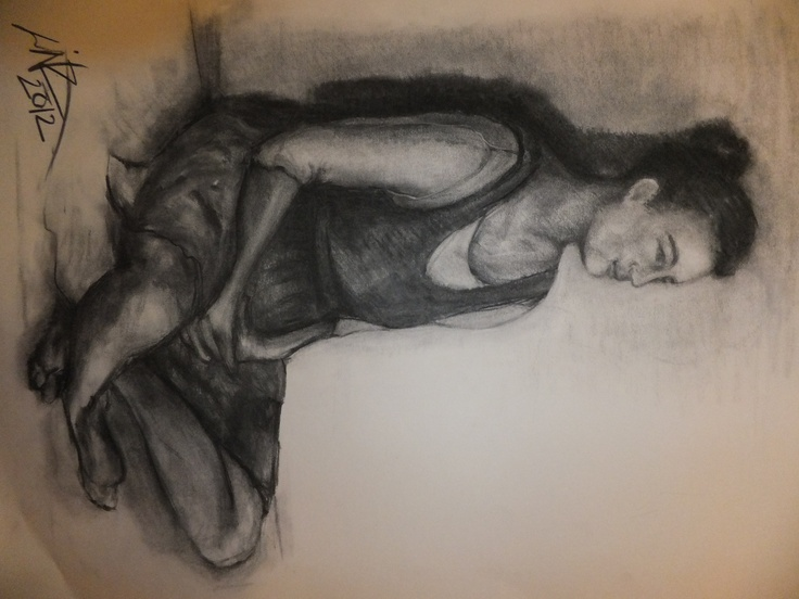 Drawing of a lady sitting