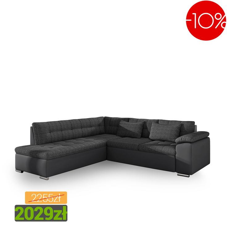 Practical corner sofa into your living room! Minimum price! Praktyczny narożnik do Twojego salonu!Najniższa cena! #sale #corner #sofa #living #room #salon #mirjan24 #promocja #black #czarny