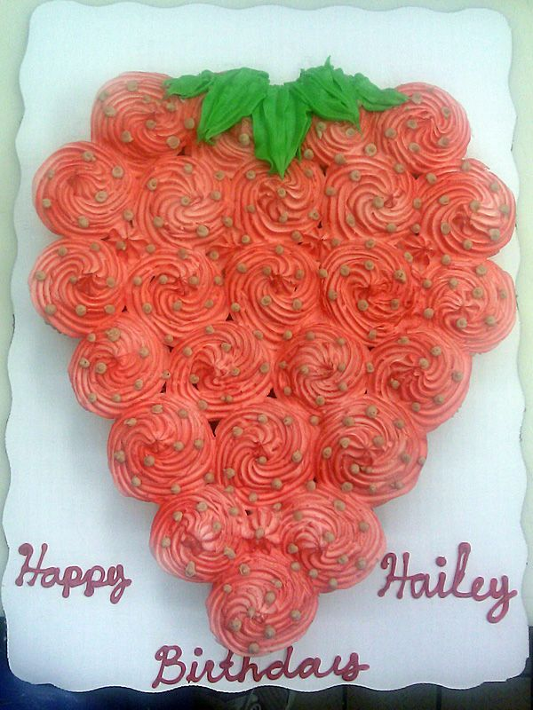 Strawberry Cupcake Cake By IcingDiva On DeviantART