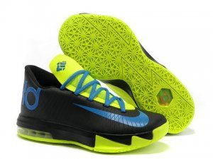 Nike Zoom KD 6 Black Blue Volt Shoes on hot sale. Buy cheap KD 6