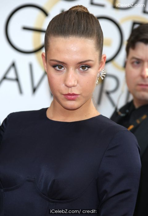 Adele Exarchopoulos 71st Annual Golden Globe Awards held at the Beverly Hilton Hotel http://www.icelebz.com/events/71st_annual_golden_globe_awards_held_at_the_beverly_hilton_hotel/
