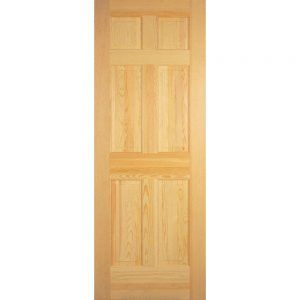 Solid Pine 6 Panel Interior Doors