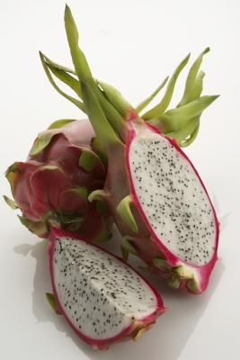 I've been chowing down on dragon fruit lately, like it's going out of style. Dragon fruit really does taste a bit like kiwi and it is fairly low-cal.