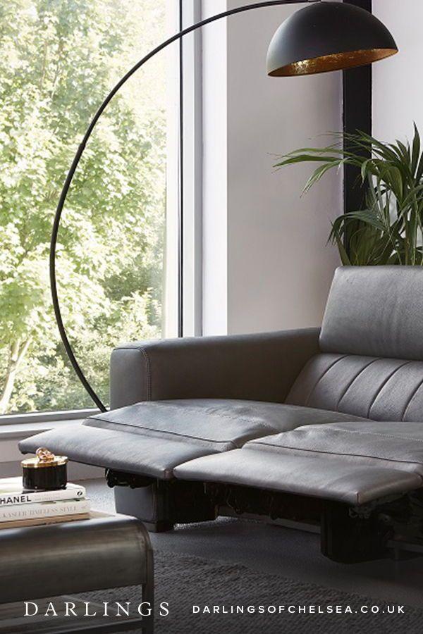 Leather Reclining Sofa Comfy Stylish