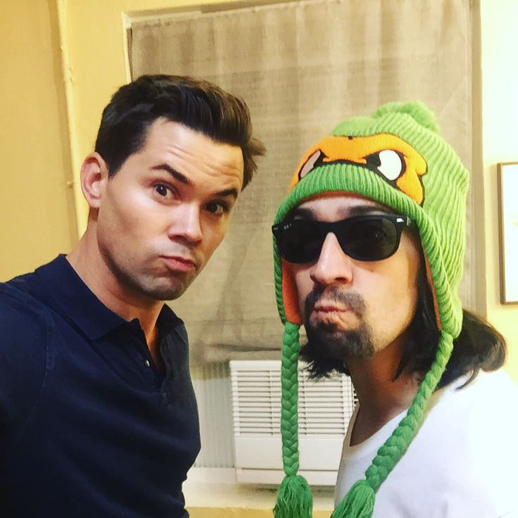 Lin and Andrew Rannells