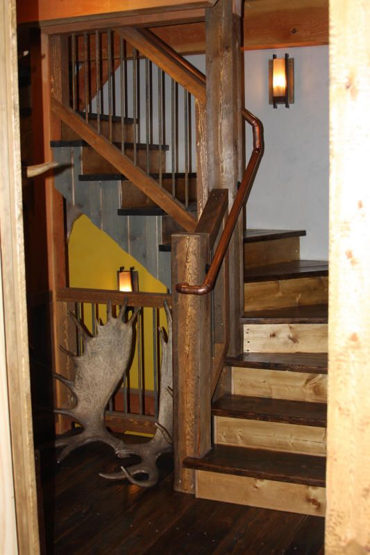 139 Best Images About Rustic Staircase On Pinterest