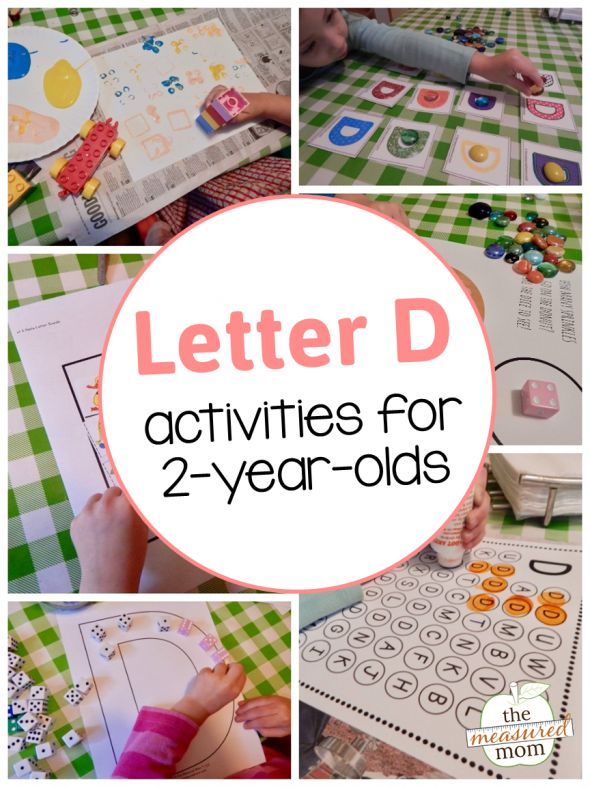 Letter D Activities for 2-year-olds