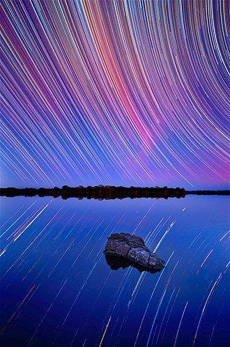 A rotação da Terra nos dá a impressão de que as estrelas estão se mexendo
