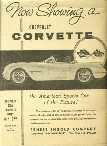 1953 Chevrolet Corvette Advertising Illustration