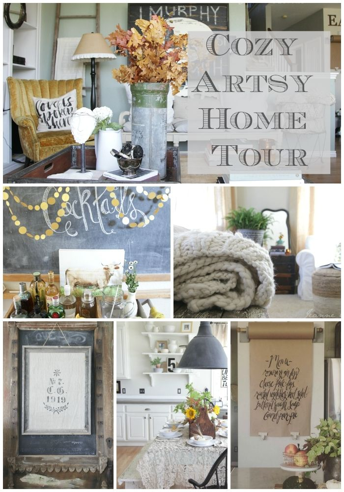 Finding Fall Home Tour With Better Homes And Gardens Jeanne Oliver Hometalk Funky Junk